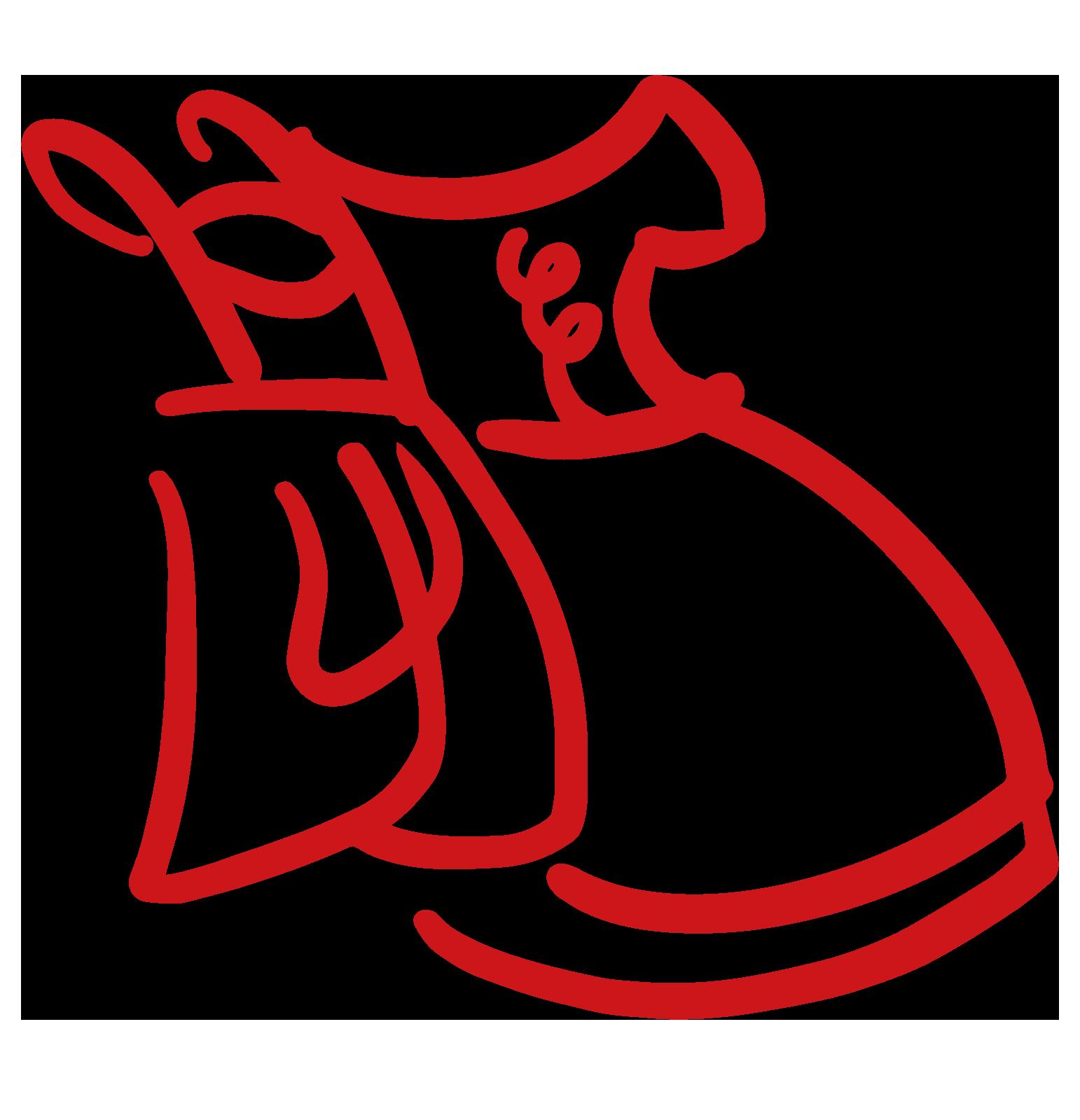 Kurzer Trachtenrock, dunkelrot, im Petticoat Stil